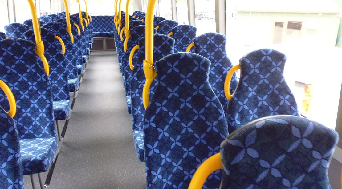 Interior city bus