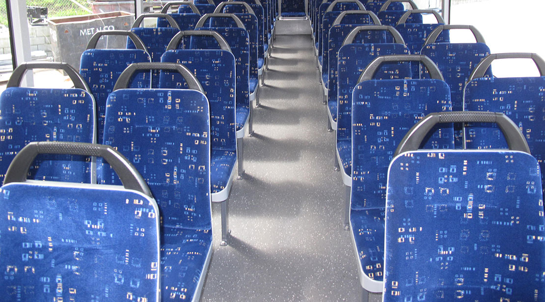 Interior charter bus