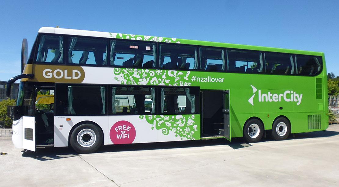 Intercity double decker bus