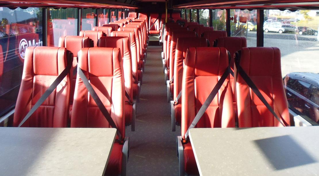 Interior Mana route bus