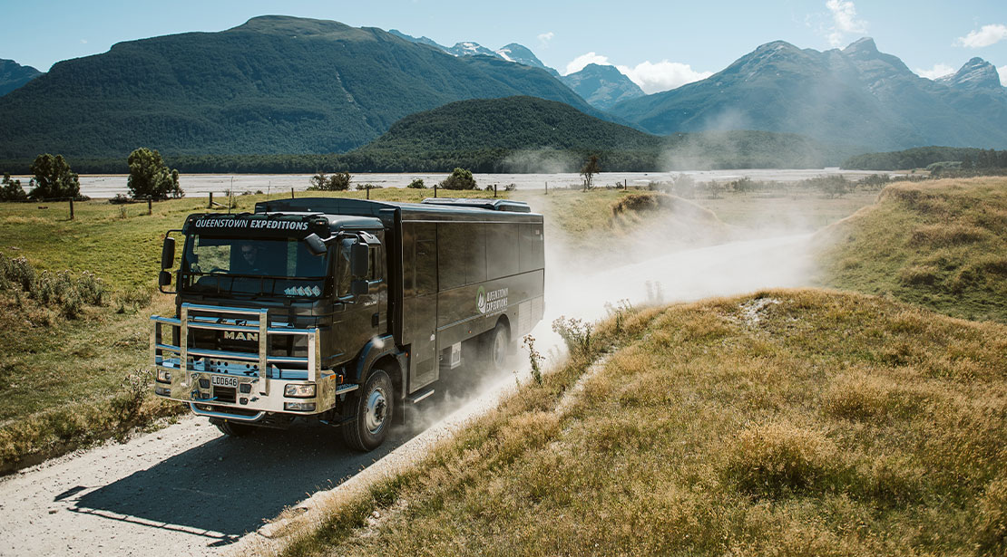 4 Wheel Drive MAN off-road bus