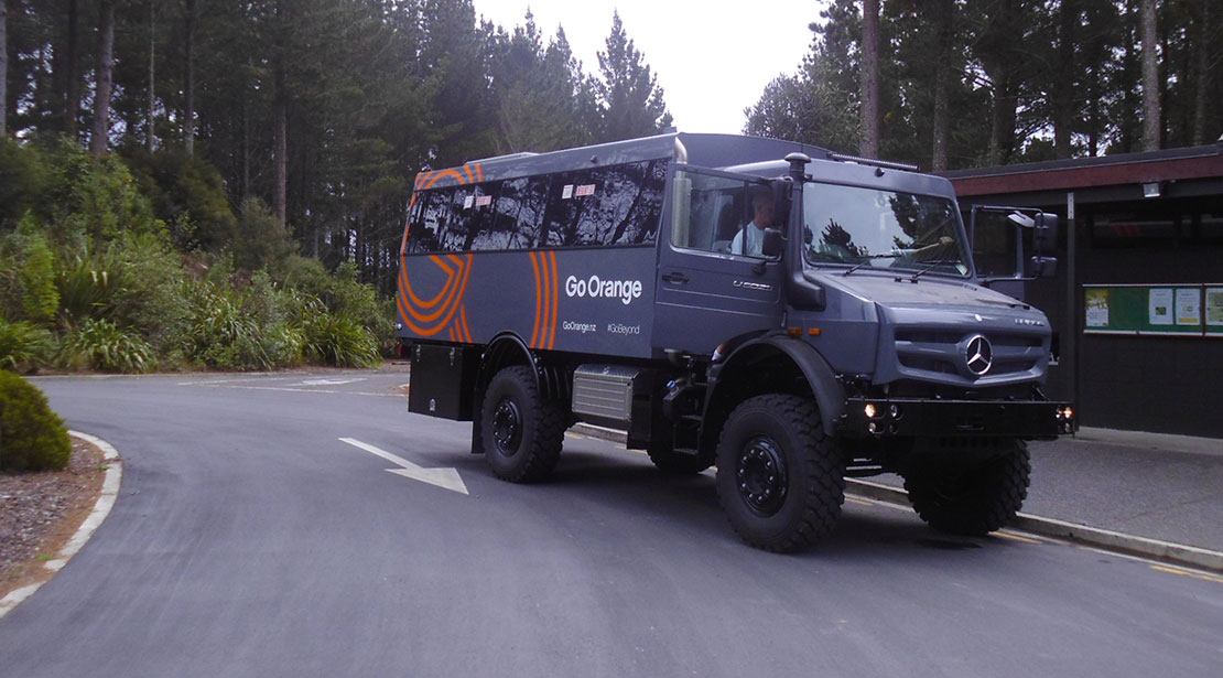 Mercedes-Benz Unimog U5023 Off-Road Tourist Bus