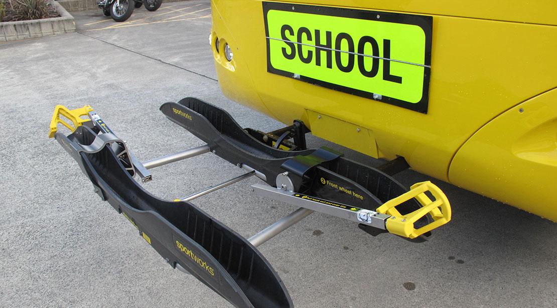 bike rack for city buses