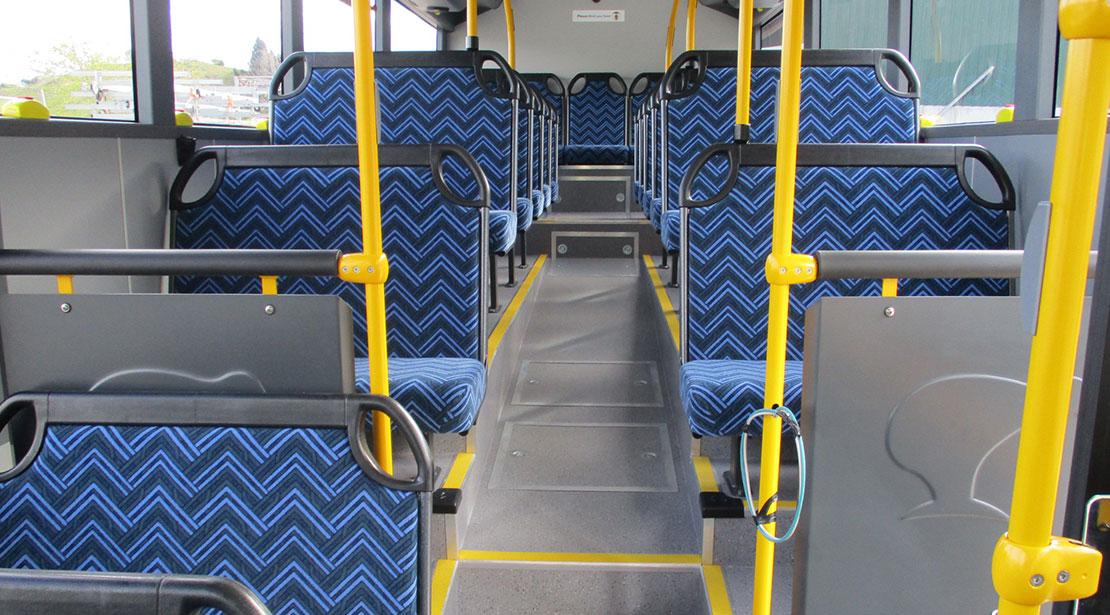 Urban and city bus interior