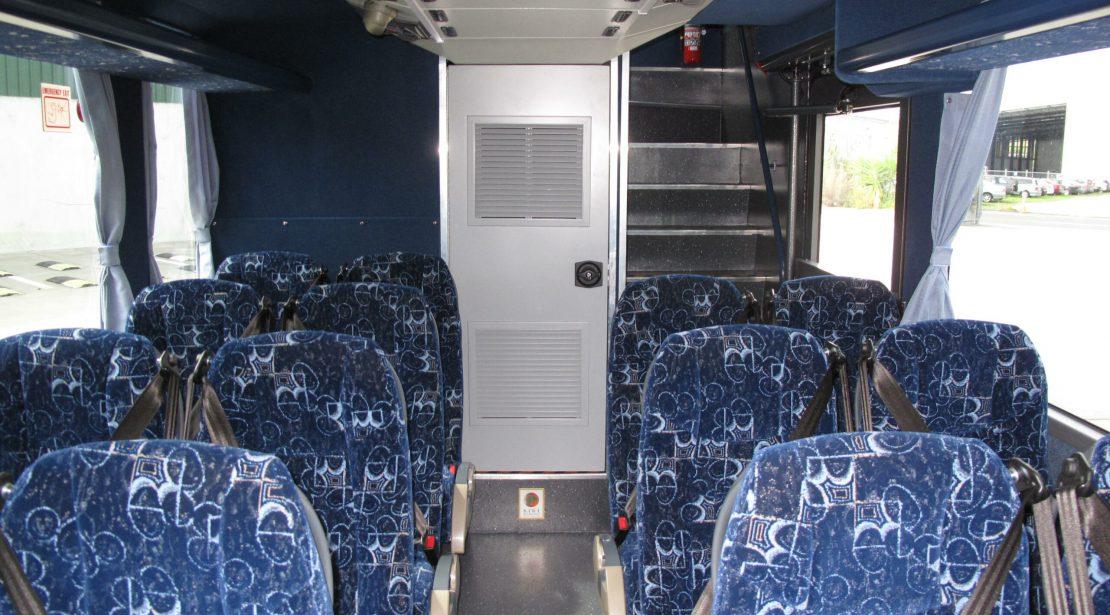 Route bus interior