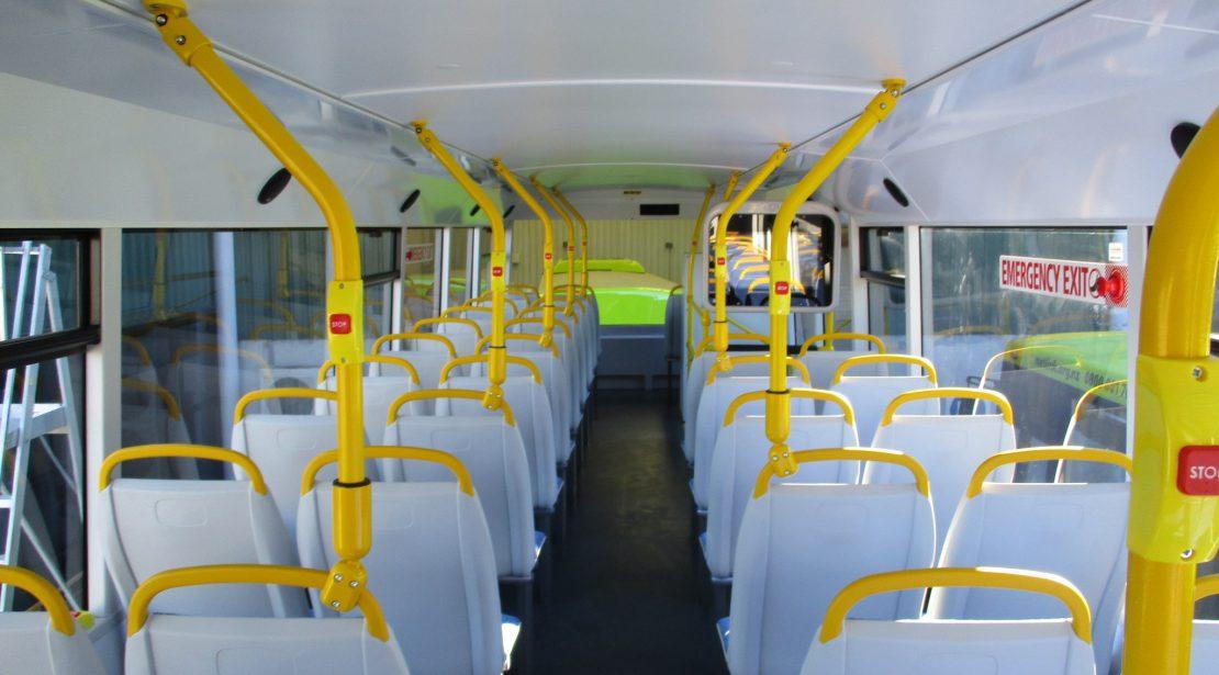 Electrc Bus Interior top deck